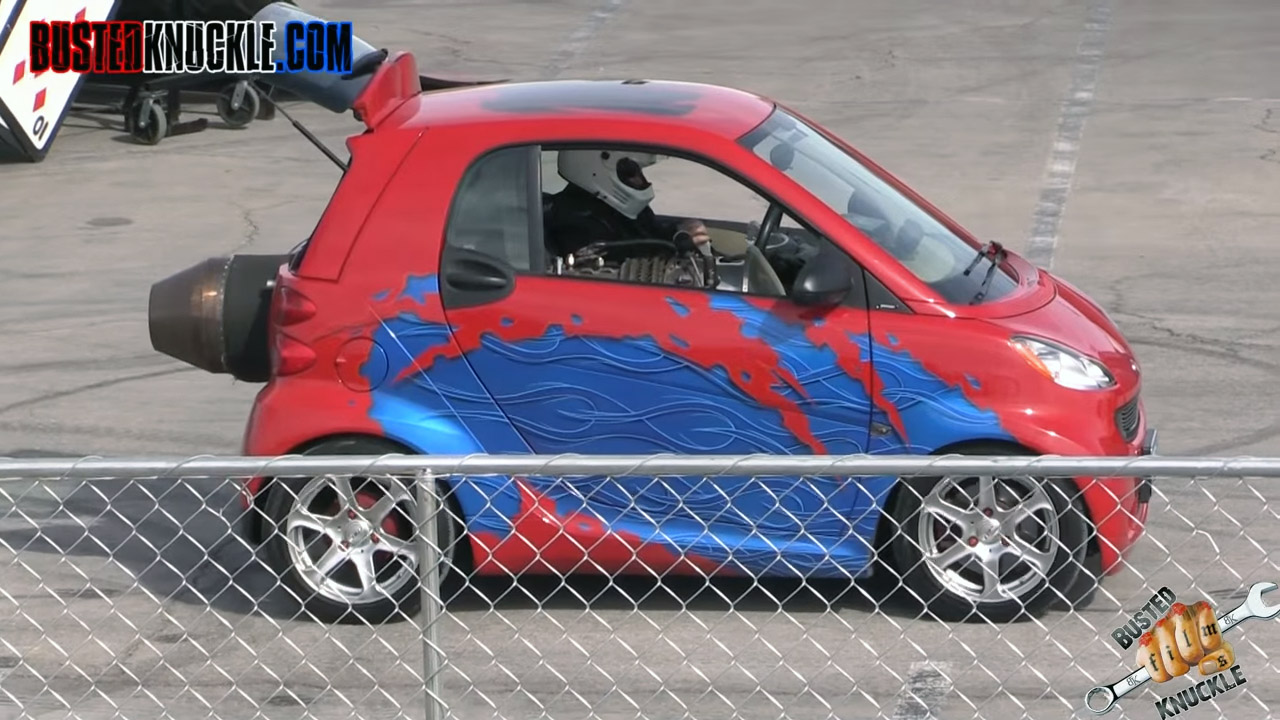Smart Fortwo With A Jet Engine