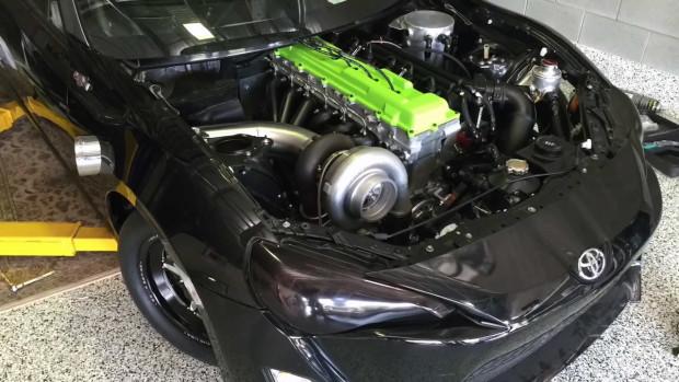 Toyota 86 with a Turbo 1FZ-FE inline-six