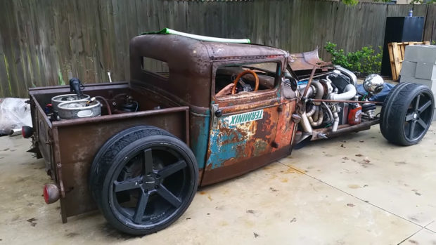 1931 Ford Model A rat rod pickup with a 2JZ-GTE
