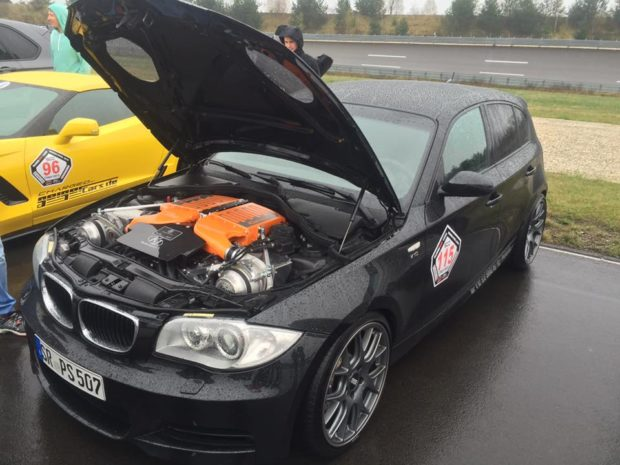 BMW 130i E87 with a twin-supercharged S85 V10