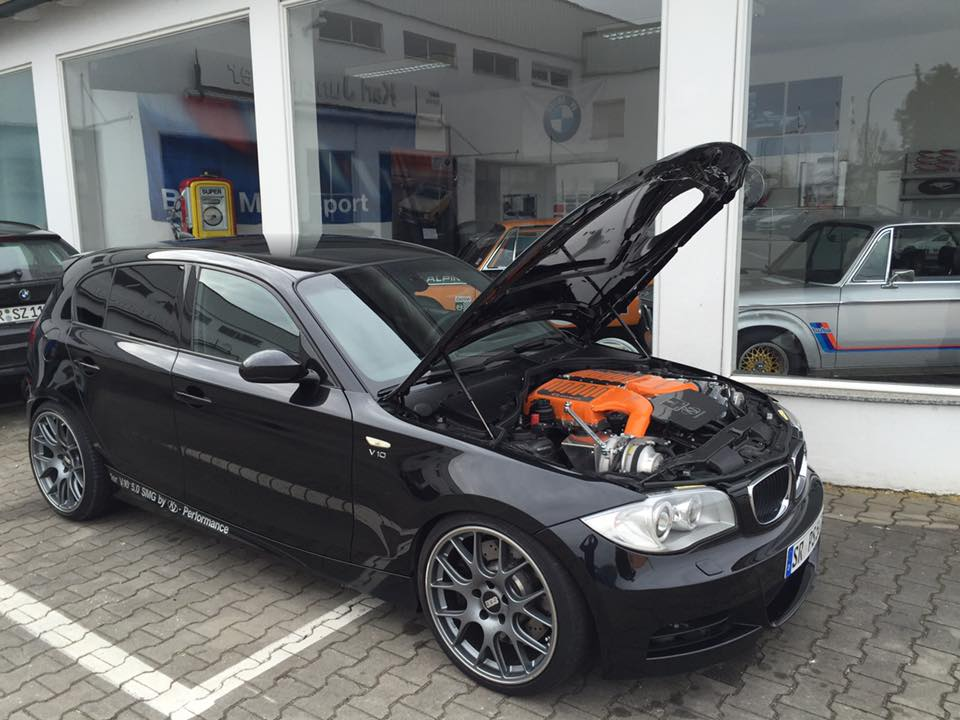 bmw 130i with a m5 v10 update. Black Bedroom Furniture Sets. Home Design Ideas