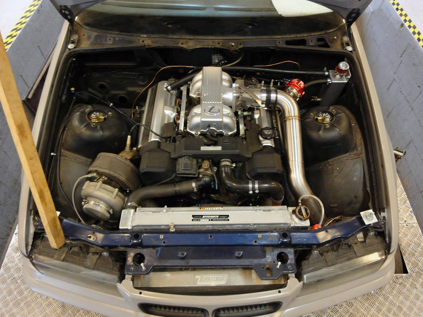 Bmw E36 With A Turbo 1uz Fe Engine Swap Depot