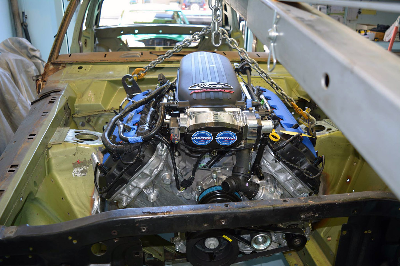 Ford Falcon XY with a Coyote Aluminator XS 06 coyote swap kit for classic fords engine swap depot coyote swap wiring harness at readyjetset.co
