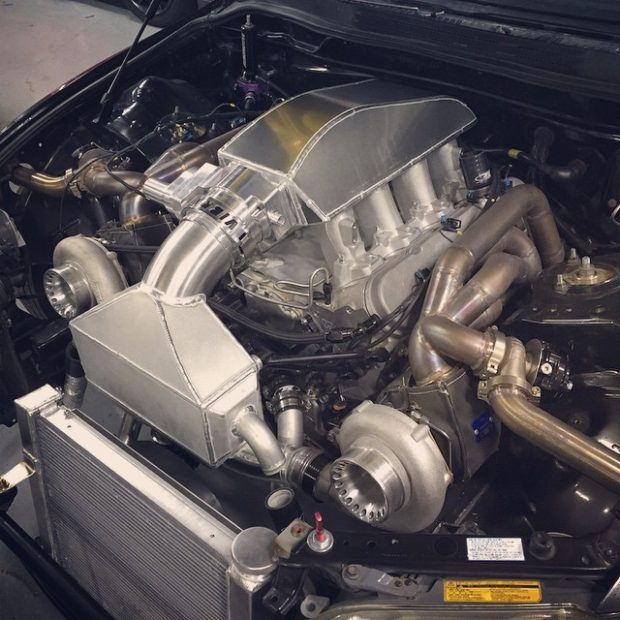 Lexus IS300 with a twin-turbo LSx