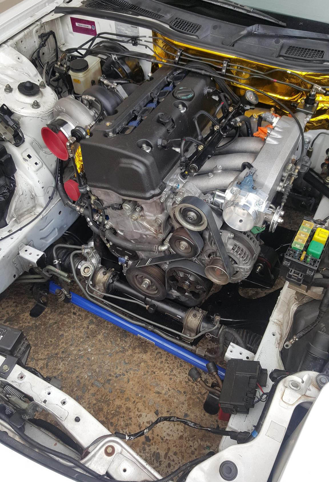 Mazda RX 7 with a Turbo K20 ndash Engine Swap Depot