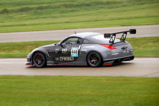 time attack Nissan 350Z with a SR22VE-T