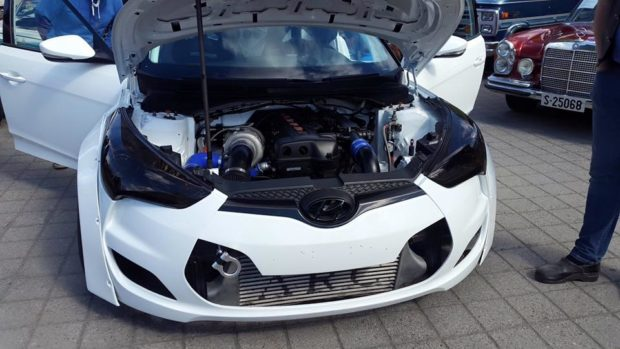 RWD converted Hyundai Veloster with a 2JZ