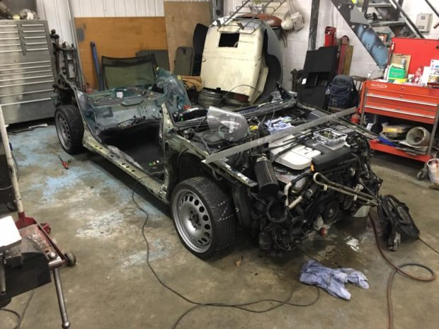 1971 VW K70 with a Passat B5 W8 chassis and powertrain