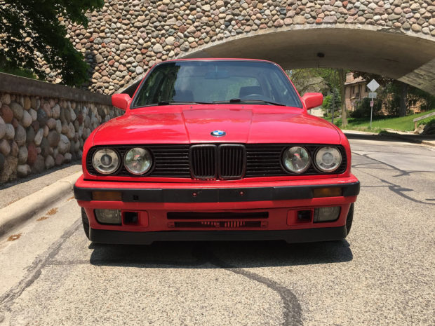 BMW 318is E30 with a M62B44 V8 and Getrag 420G six-speed transmission