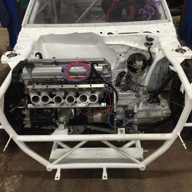 Toyota Starlet 70 series with a turbo 2JZ