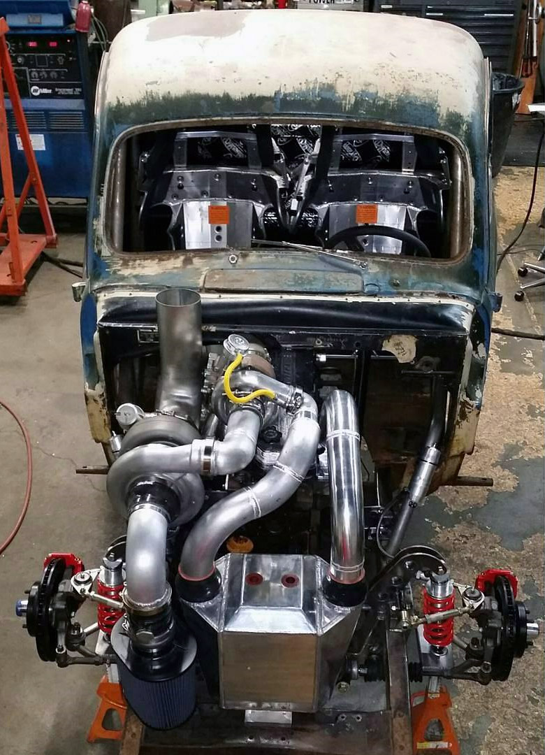 1967 vw wiring harness 1949 ford f 1 with a 1 200 hp cummins     engine swap depot  1949 ford f 1 with a 1 200 hp cummins     engine swap depot