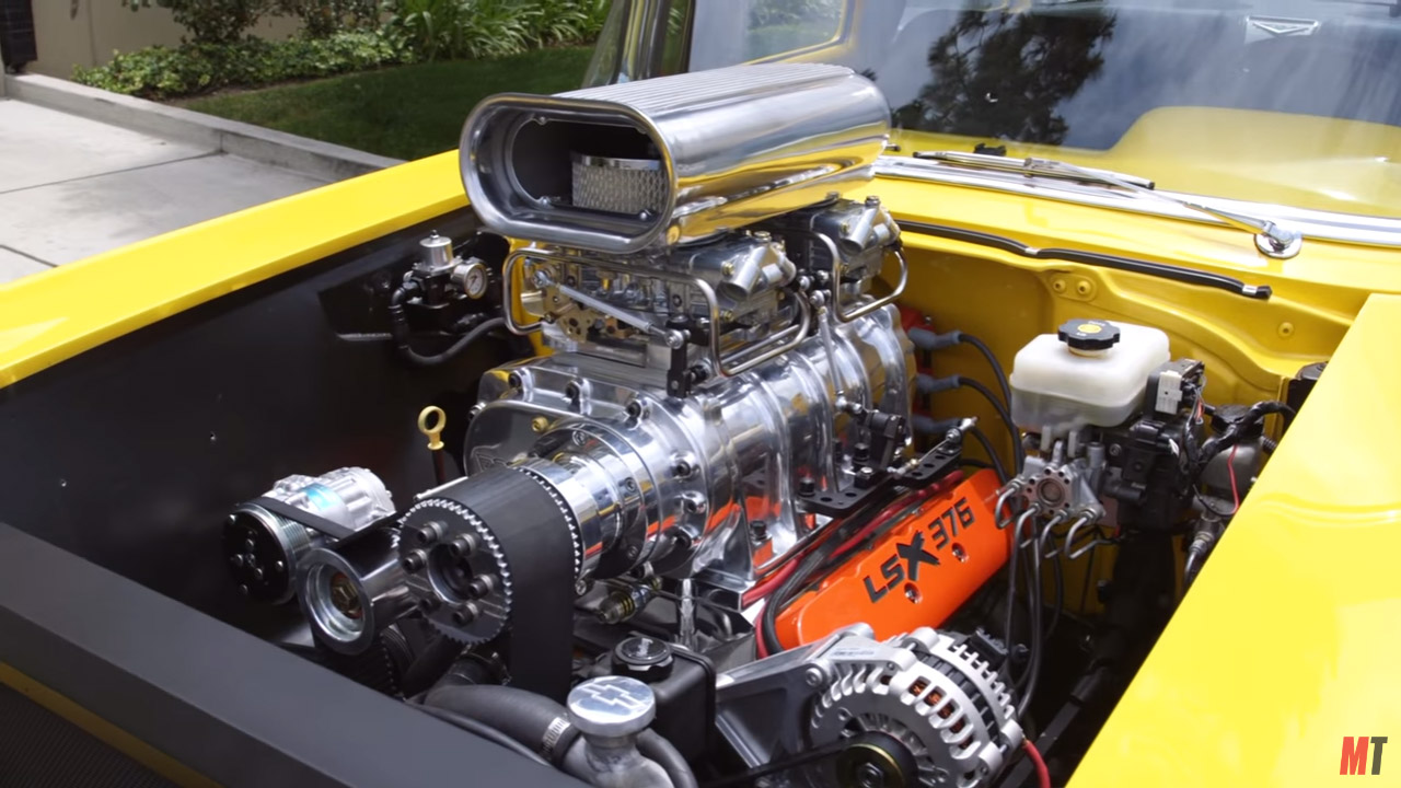 Project X Chevy With A Supercharged Lsx B on 1957 Chevy Frame