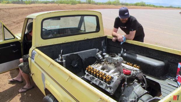Roadkill Mazdarati 1974 Mazda truck with an Oldsmobile 455 ci V8