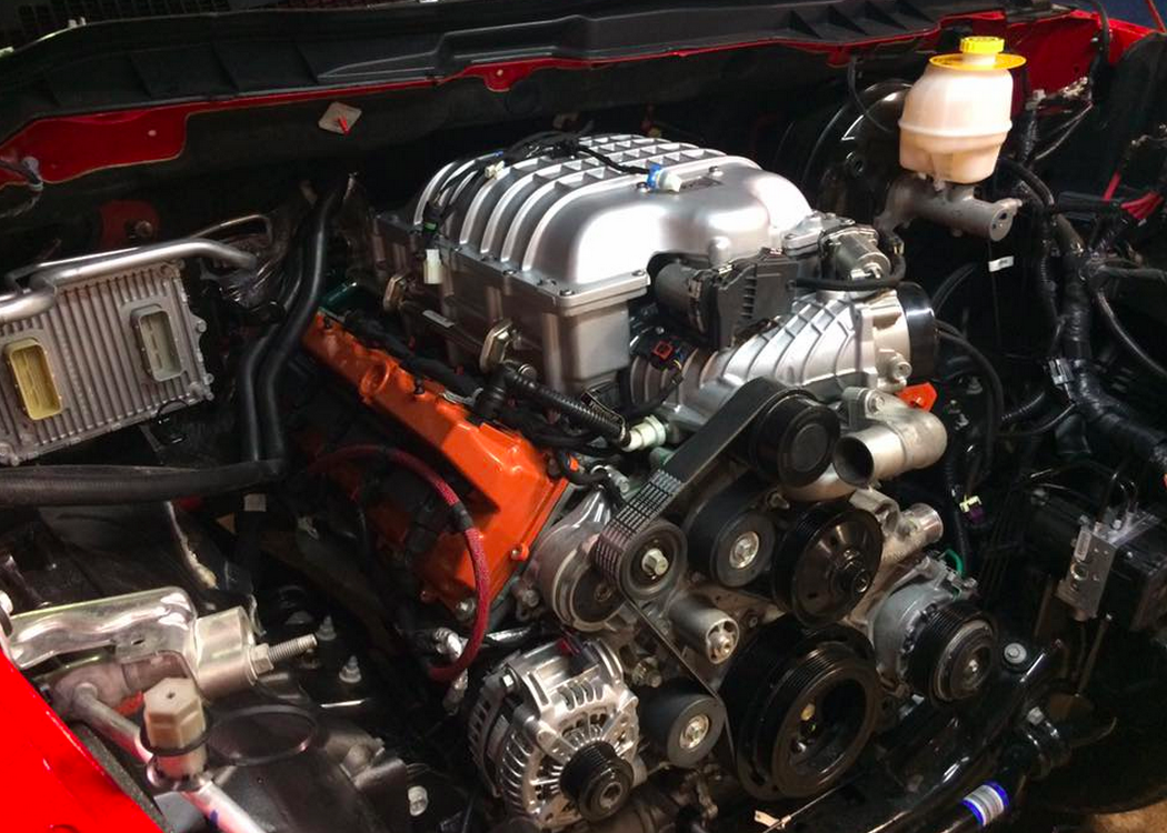 Dodge ram 1500 with a hellcat v8 engine swap depot for Dodge ram 1500 motor