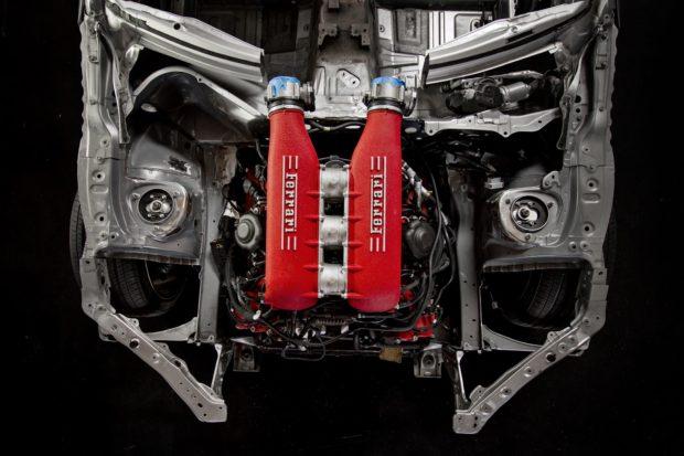 Ryan Tuerck's Toyota GT86 with a Ferrari F136 V8