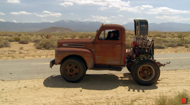 Stubby Bob 1950 Ford F-6 dump truck with a supercharged 454 BBC V8