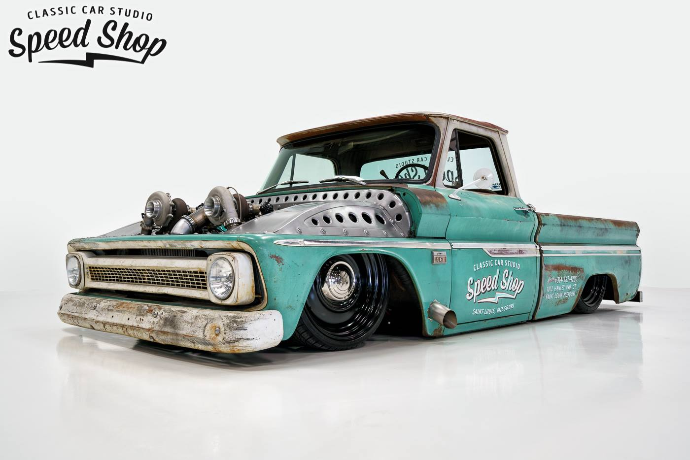 "In a world full of Bro-dozzers its hard to find rolling art. 1966 Chevy C-10  ""Tiffany""[1400X934] ..."