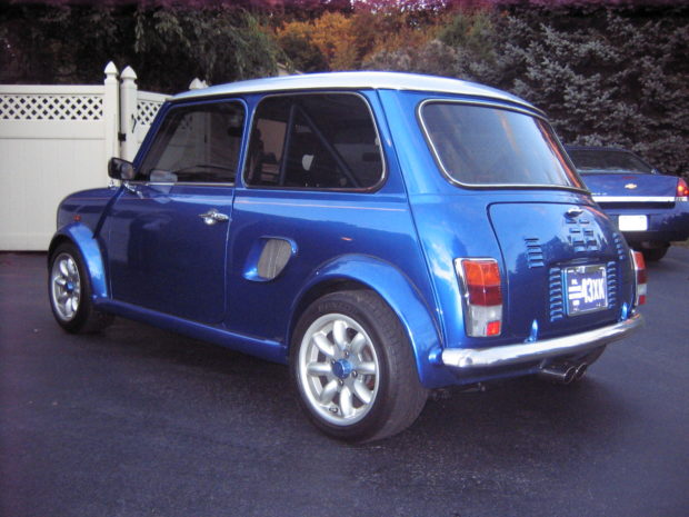 1970 Mini Cooper with a mid-engine turbo Honda B18 inline-four