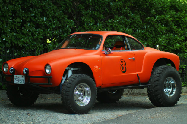 Baja 1000 Off Road 1964 VW Karmann Ghia with a 1600 cc flat-four