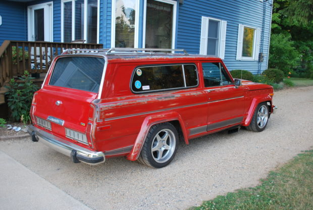 Custom 1983 Jeep Cherokee on a C-10 chassis with a turbo 5.7 L HEMI V8