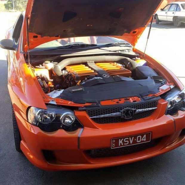Holden Monaro with a Mercedes M120 V12