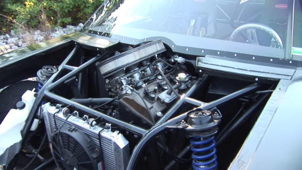 Mini 1970 Chevy Nova with a Kawasaki Ninja ZX-12R inline-four