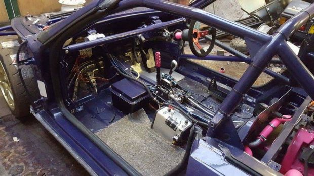 Porsche Boxster with a twin-turbo Audi V6