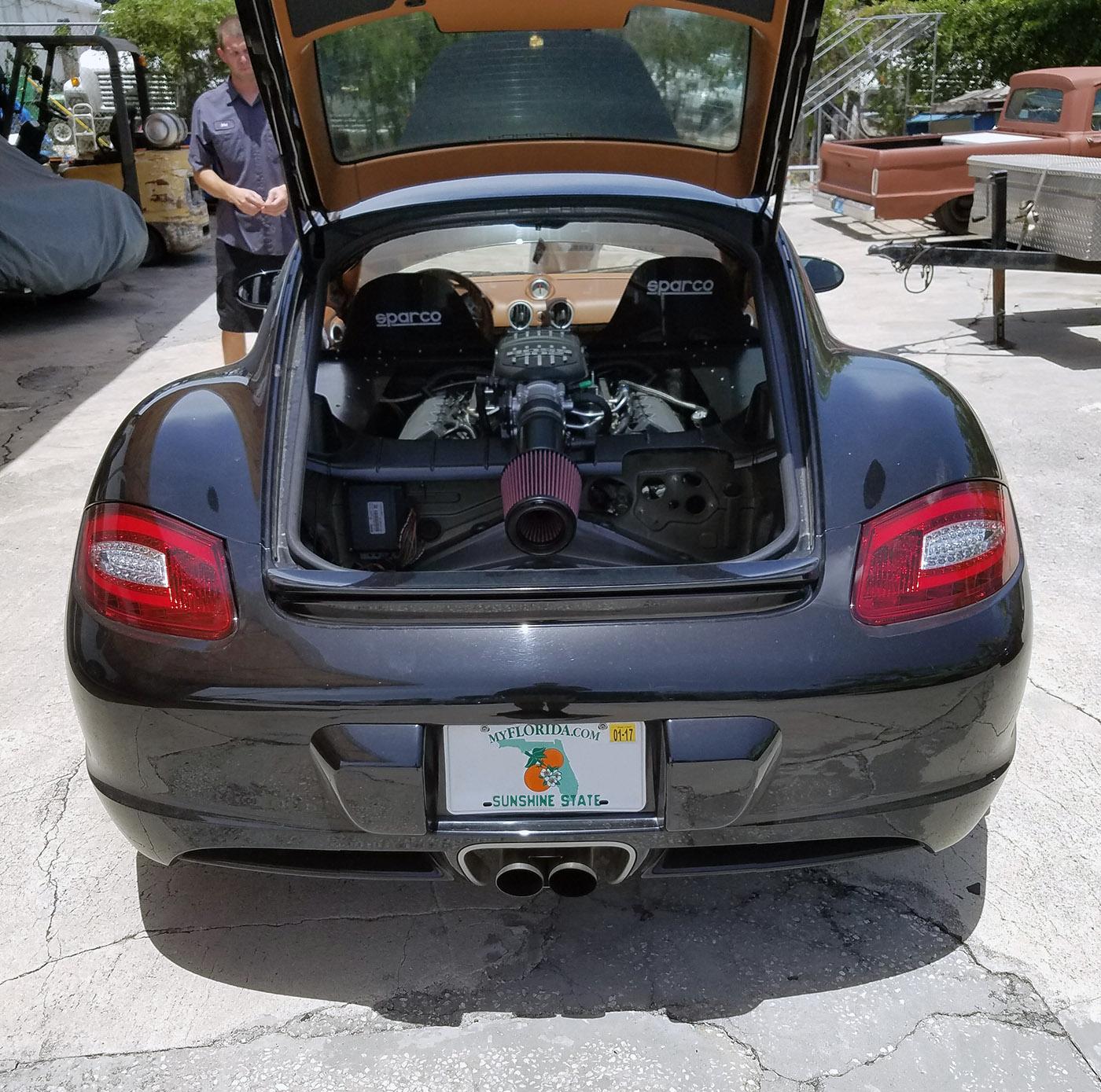 Porsche 911 Engine Swap: Porsche Cayman With A Coyote V8