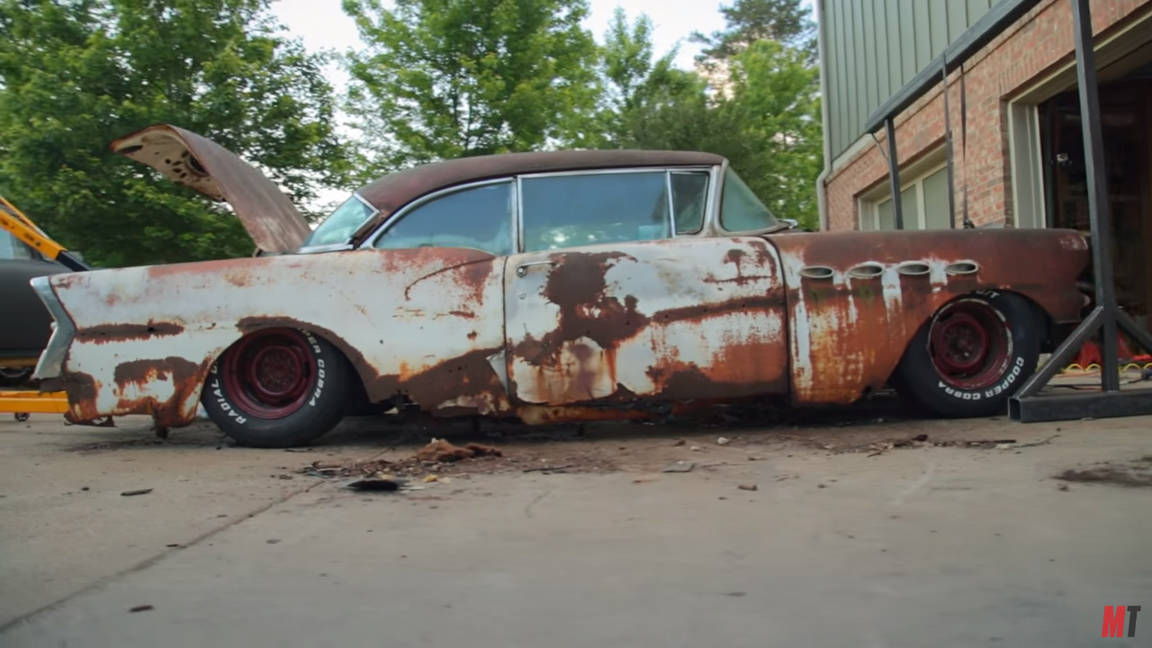 Roadkill Wraps a 1956 Buick around a C3 Corvette Chassis – Engine ...