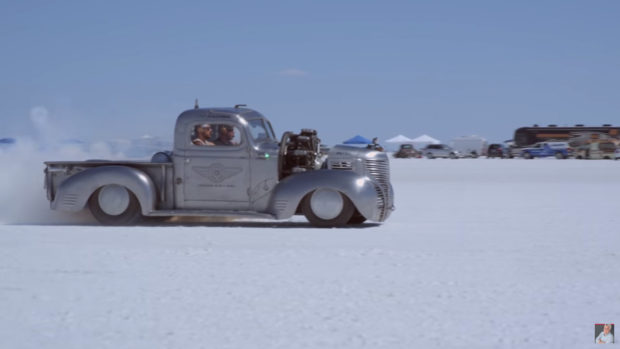 1939 Plymouth Radial Air Truck at Bonneville