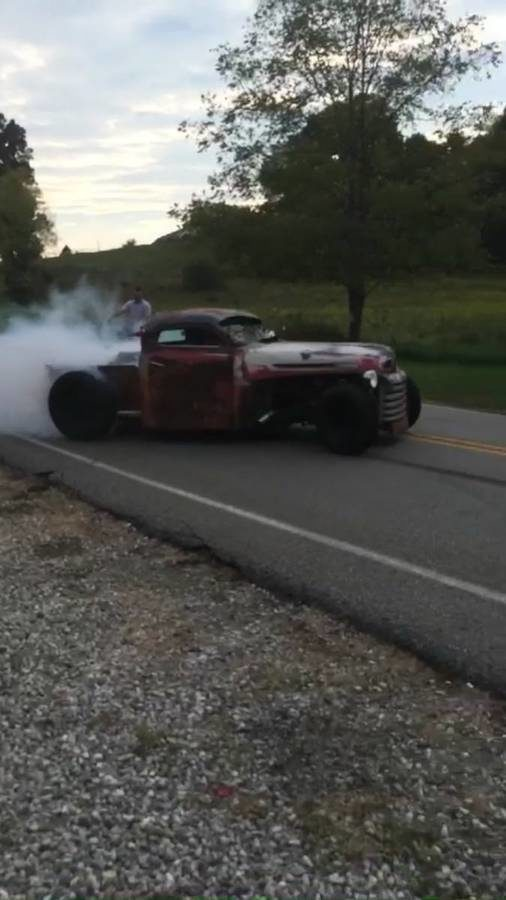 1950 Ford Rat Rod with a twin-turbo 2JZ-GTE