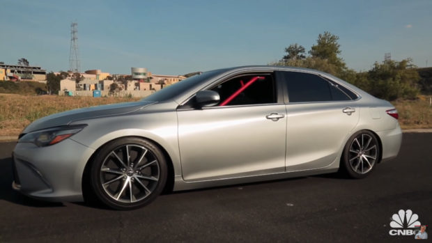 custom 2015 Toyota Camry with a 850 horsepower 5.7 L V8