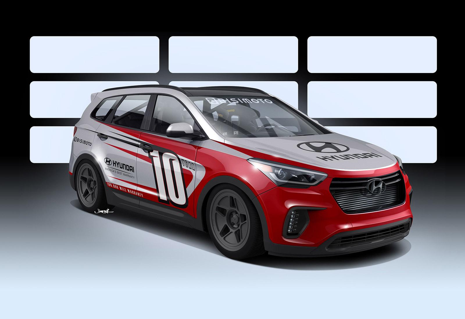 Rwd Hyundai Santa Fe With A 1 040 Hp Twin Turbo V6