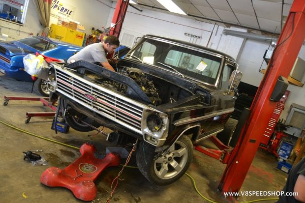1969 Ford F-100 with a 2002 Ford Lightning chassis and powertrain