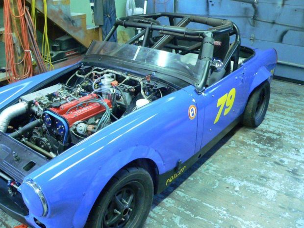 1972 MG Midget with a Toyota 4A-GE inline-four
