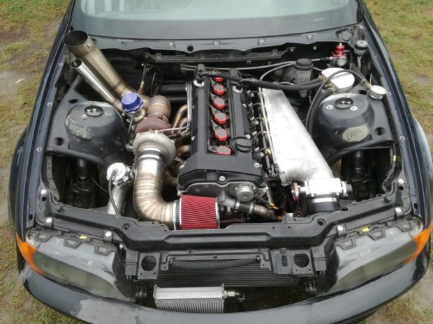 BMW E46 with a turbo Mercedes 3.2 L M104 inline-six