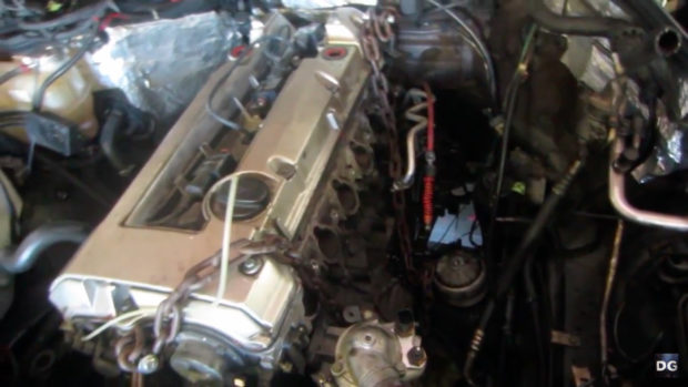 Deboss Garge 1994 Mercedes W124 E320 with a turbo LM7 V8