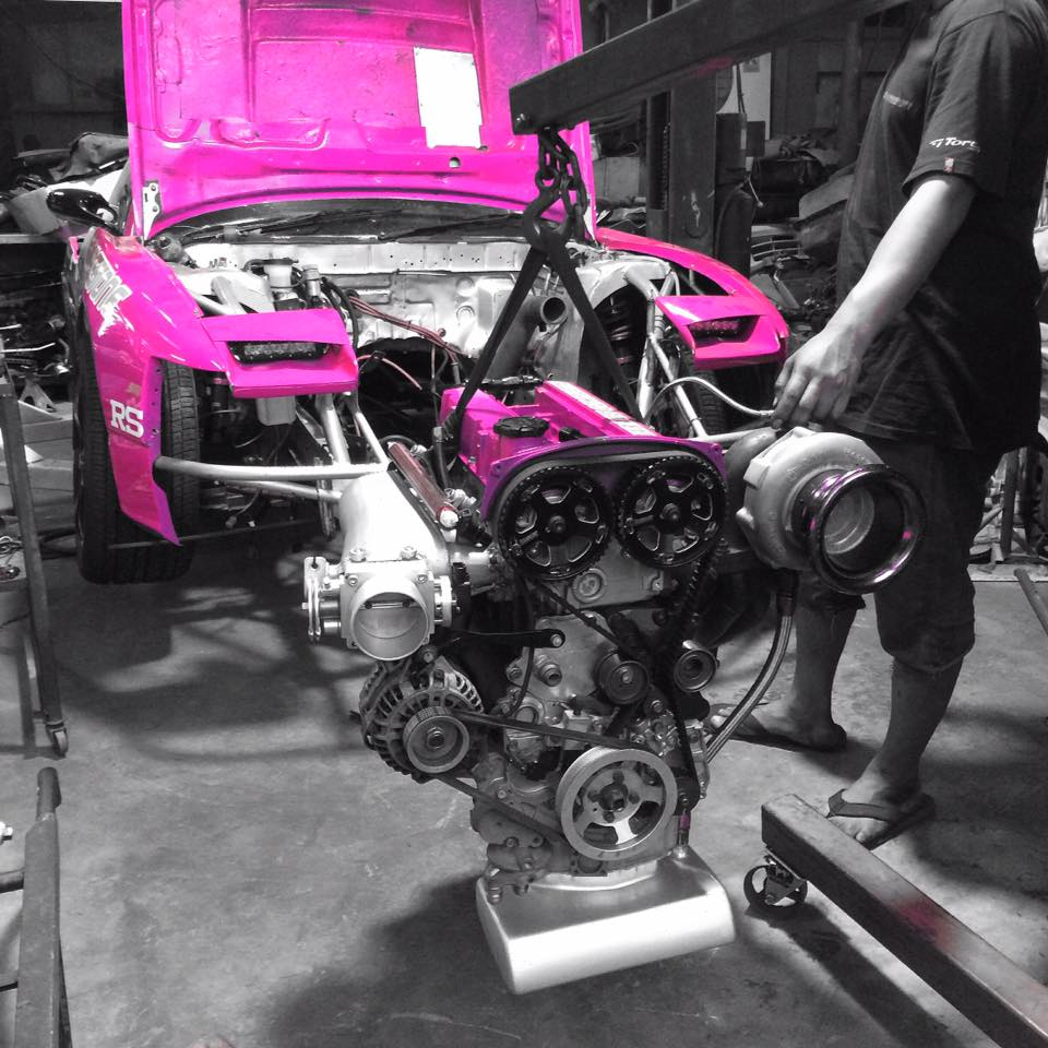 Nissan 200SX with a Turbo 4G63 – Engine Swap Depot
