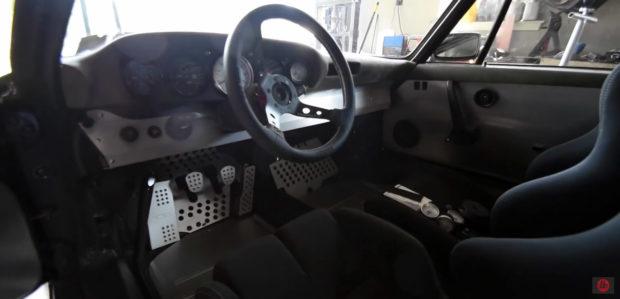 Porsche 911 with a turbo Honda K20 inline-four