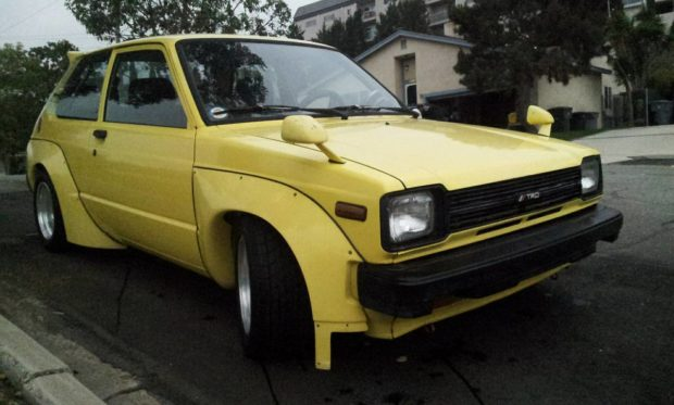 Toyota Starlet with a 4A-GZE inline-four