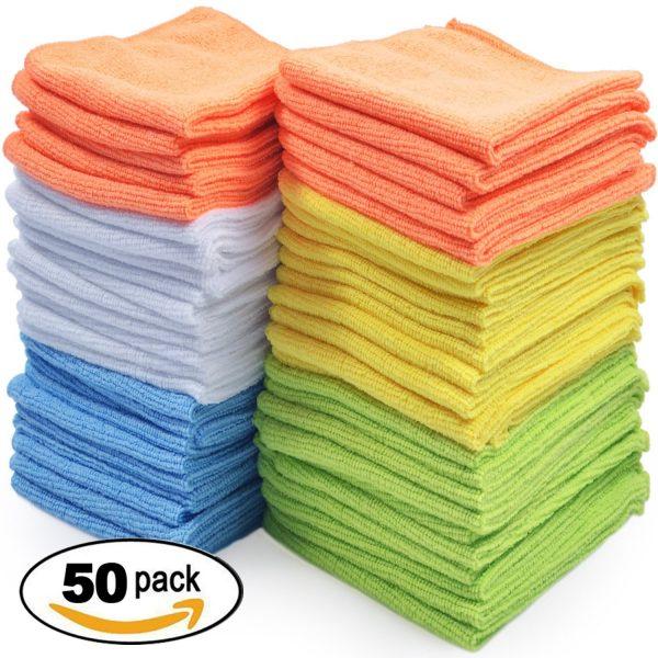 50 pack of microfiber towels
