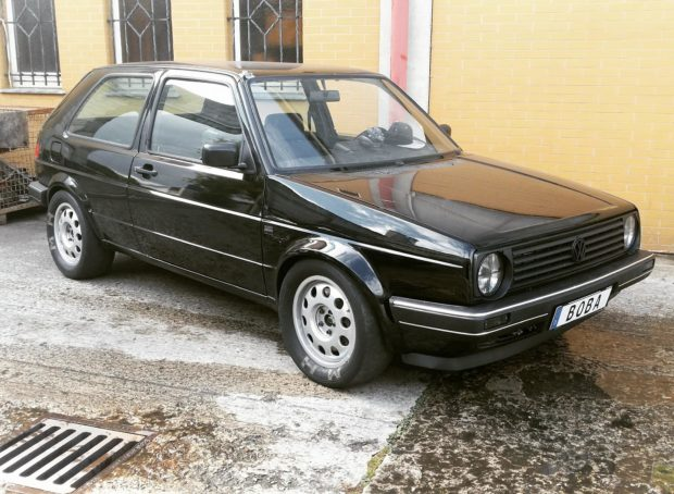 Boba Motoring VW Golf Mk2 with 1,233 horsepower turbo 2.0 L ABF inline-four