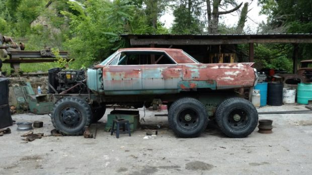Cadillac DeVille on a M35 Deuce and a half chassis