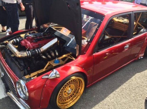 Daihatsu Mira Gino with a Mazda 1.8 L BP inline-four