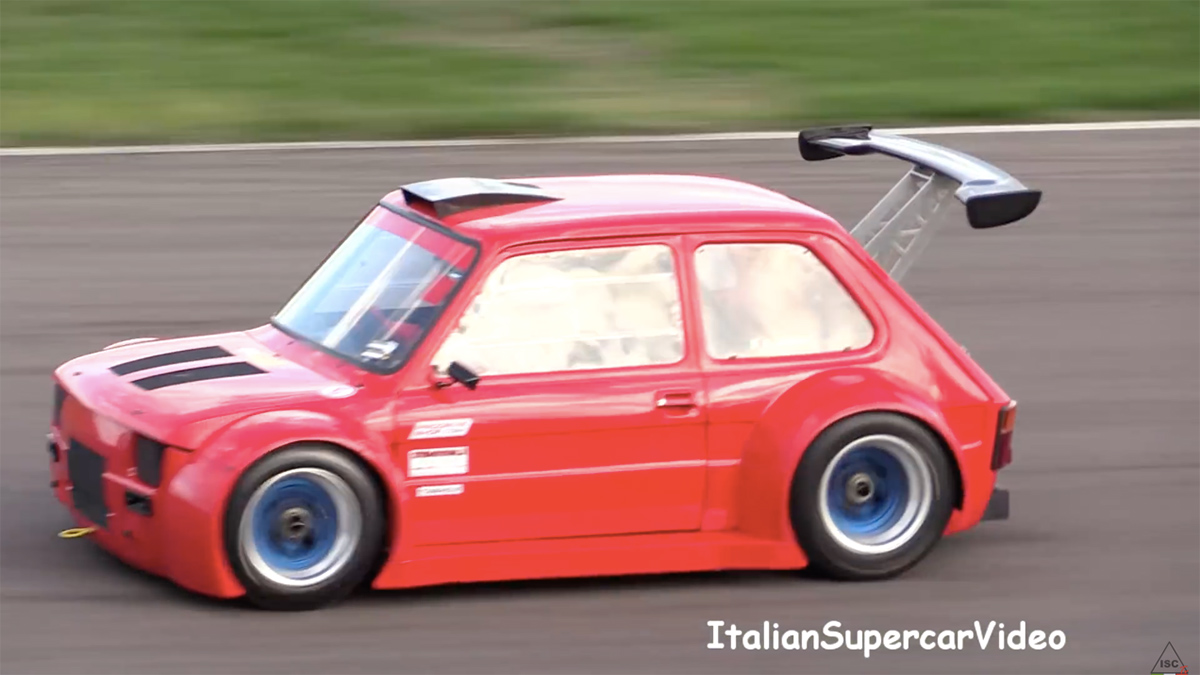 Fiat 126 with a Honda CBR1100XX inline-four