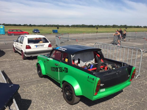 Trabant 601 with a VW 1.9 L turbo diesel inline-four