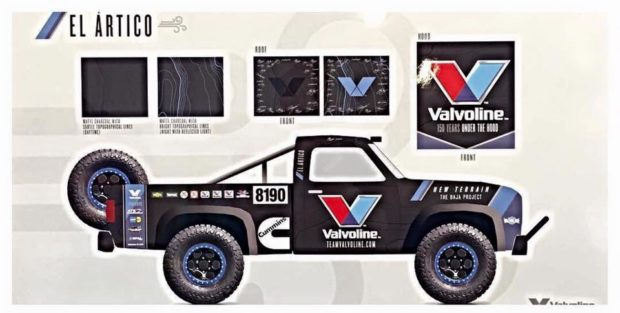 Valvoline Baja 1000 Dodge Truck with a 5.9 L Cummins ISB