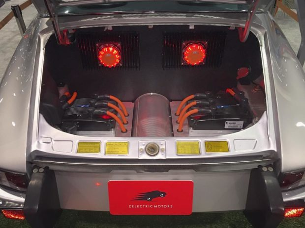 1973 Porsche 911 with a dual AC electric motor