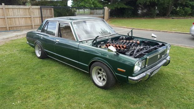 1979 Toyota Corona Mark II with a ITB 1GZ-FE V12