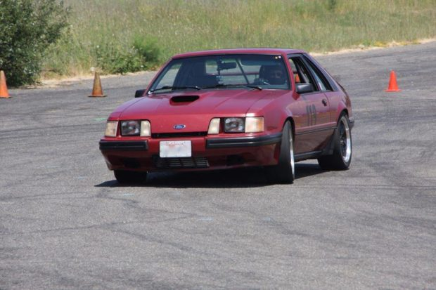 1985 Ford Mustang SVO with a twin-turbo 3.5 L Ecoboost V6